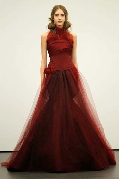 vera wang red Wedding dresses