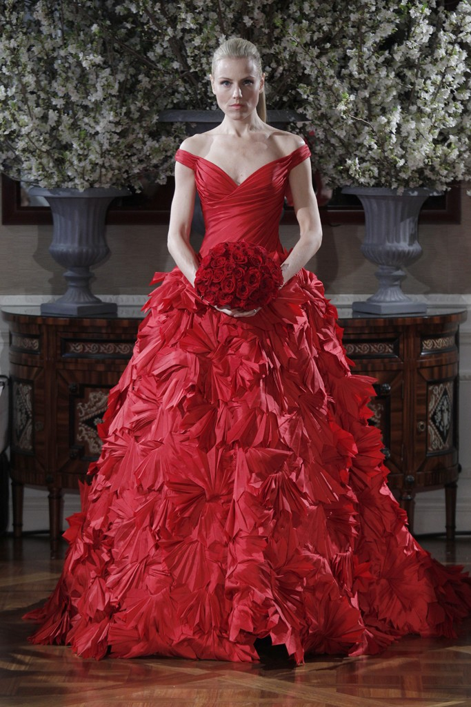 Romona Keveza red Wedding dresses