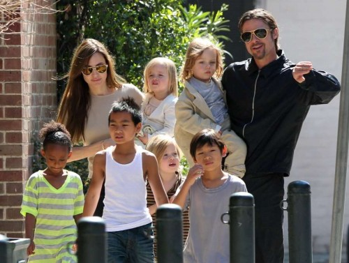 angelina jolie brad pitt with all their kids