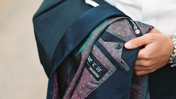 personalise your wedding suit