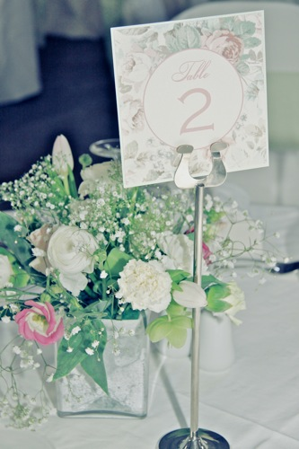 vintage floral wedding theme