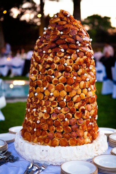 profiterole wedding cake