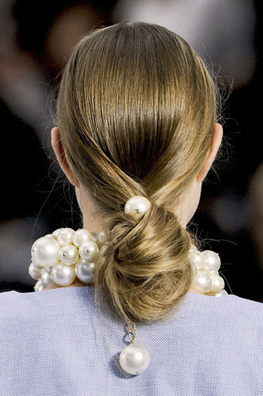 chanel spring 2013 hair tying the knot