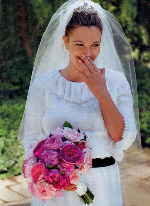 2012 celebrity brides drew barrymore