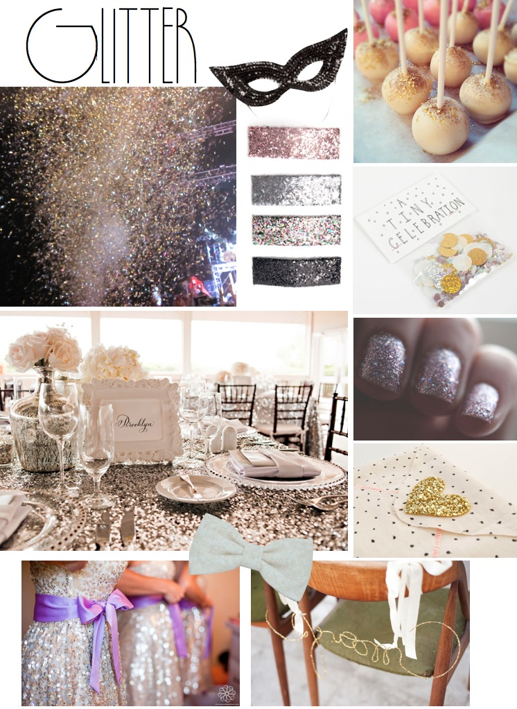 glitter wedding theme
