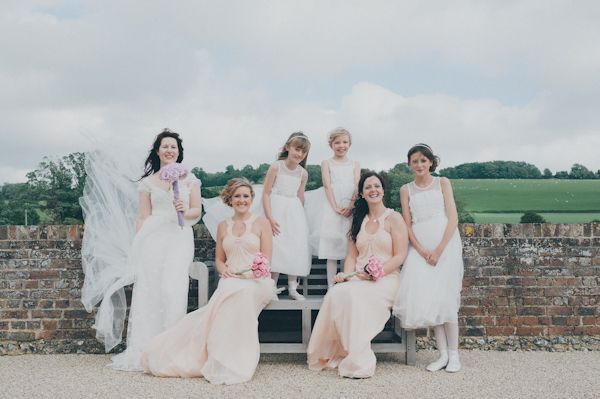 nude bridesmaids dresses