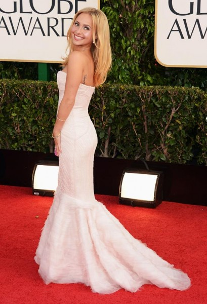 hayden panettiere red carpet golden globes