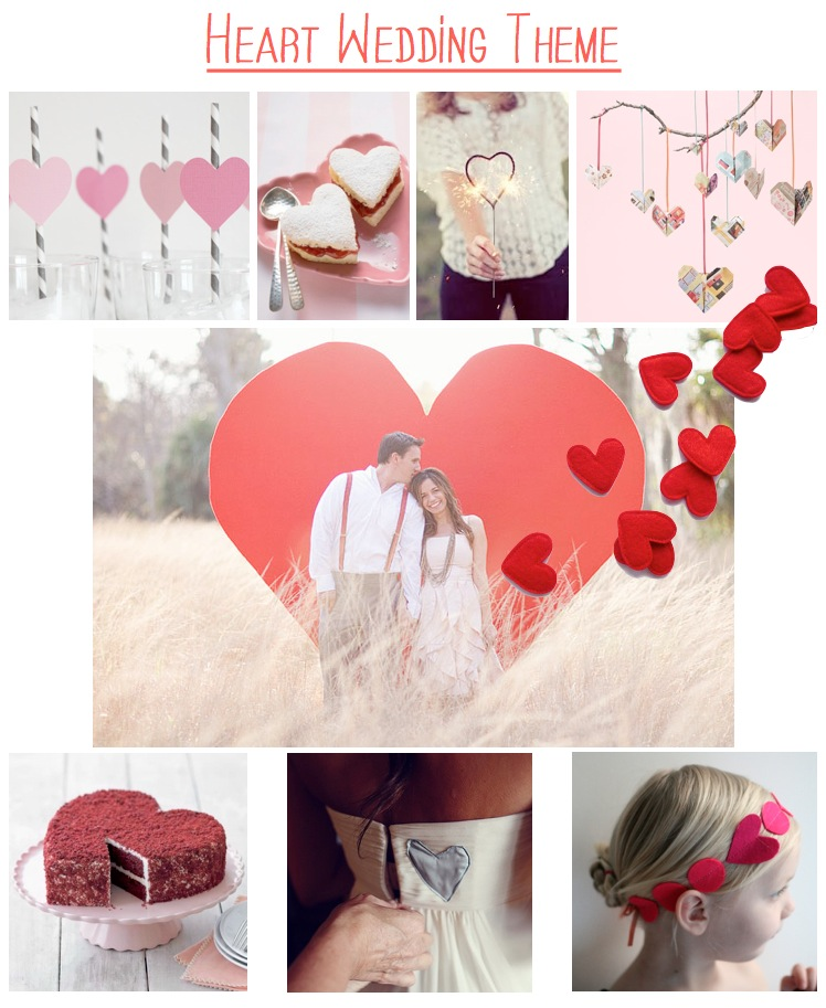 heart wedding theme