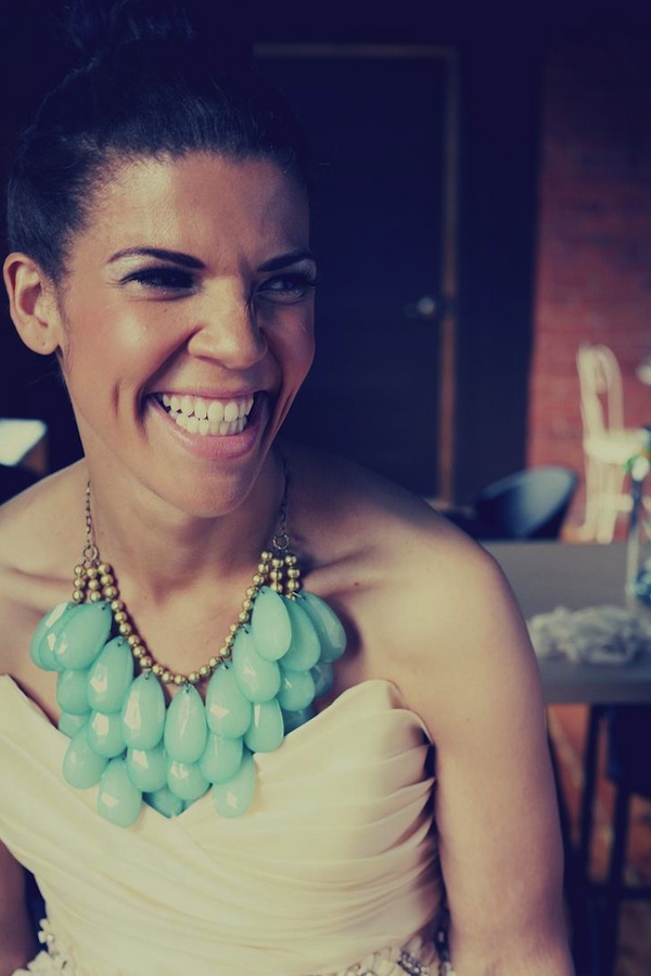 turquoise necklace bride
