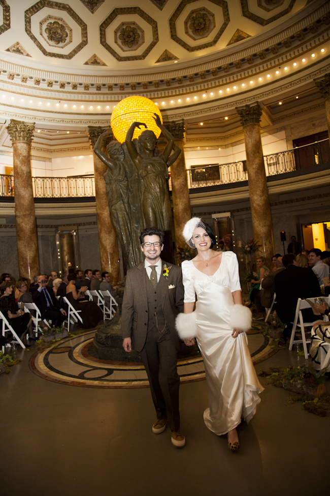 wedding at LA natural history museum