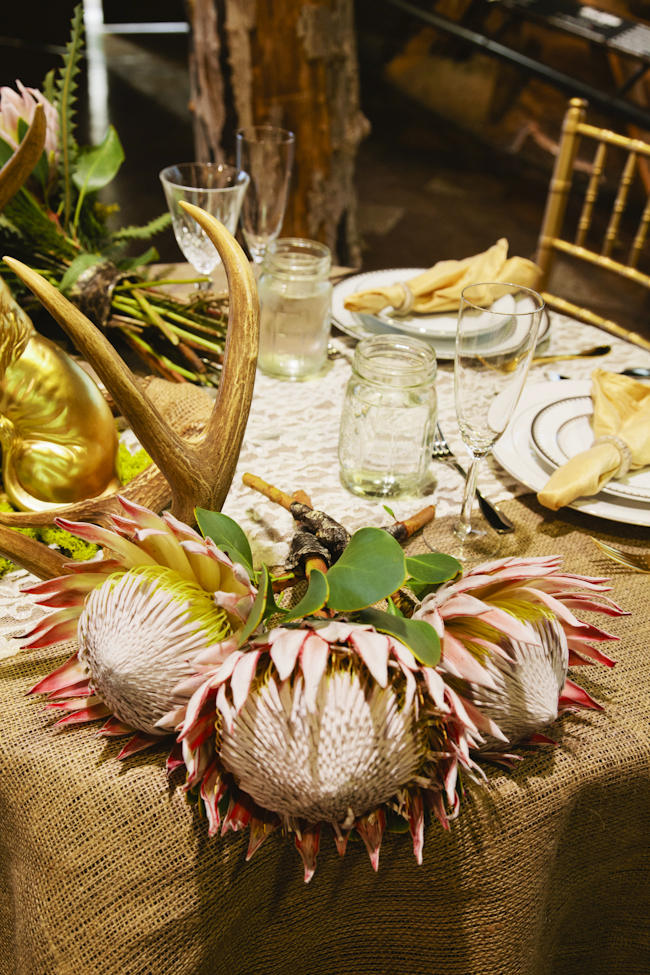 animal themed wedding table