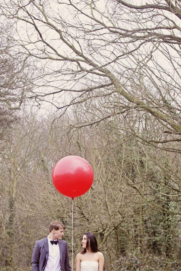 red balloon wedding