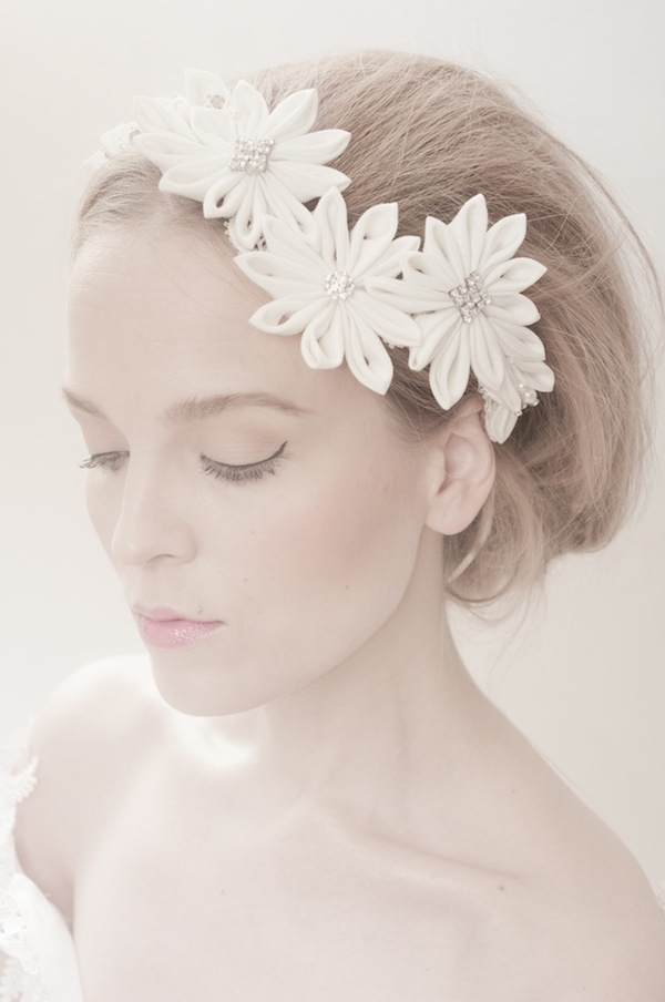 fabric flower headdress