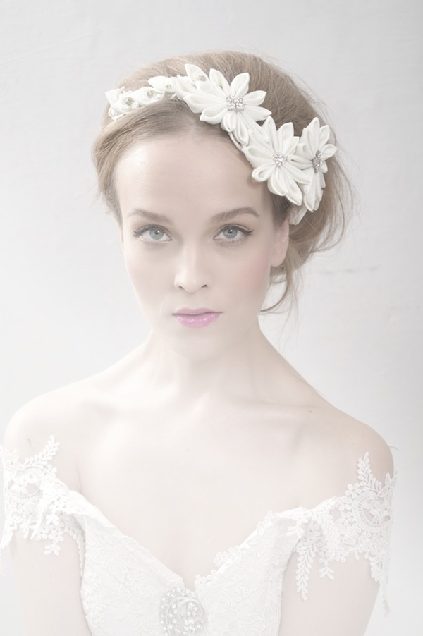 flower headband wedding