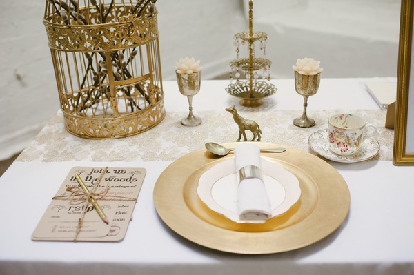 quirky gold wedding theme