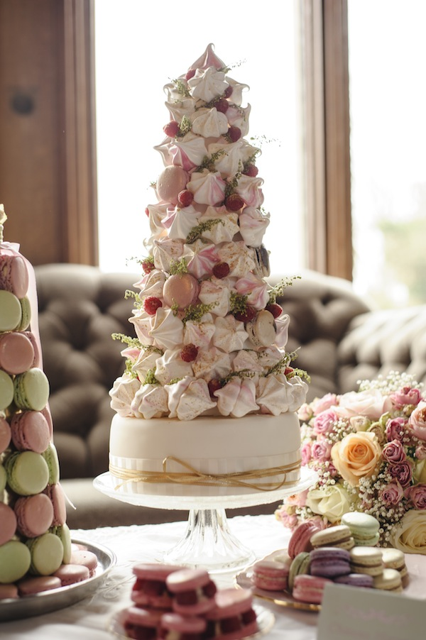 meringue wedding cake