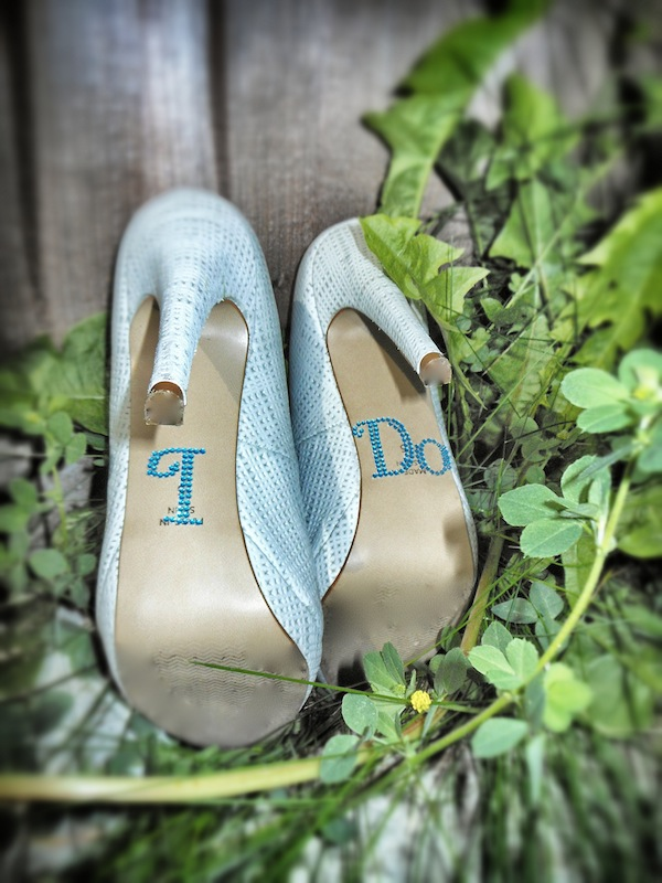 i do wedding shoe stickers