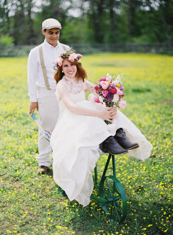 rustic wedding wheelbarrow