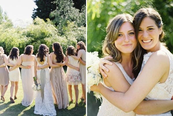 muted bridesmaids dresses