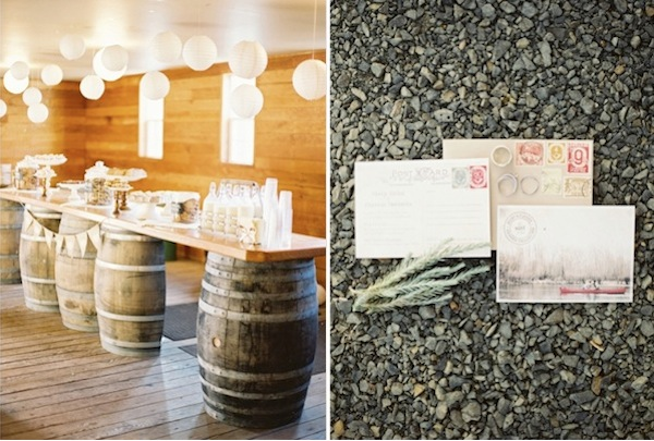 barrel bar wedding