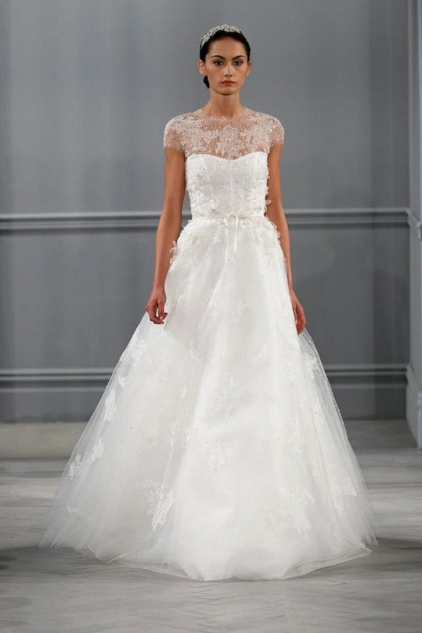 lace monique lhuillier wedding dress