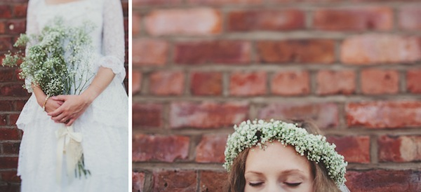diy gypsophila crown