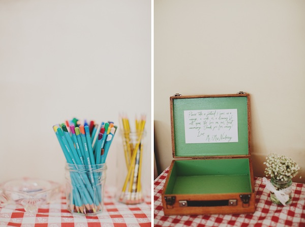 suitcase guest book