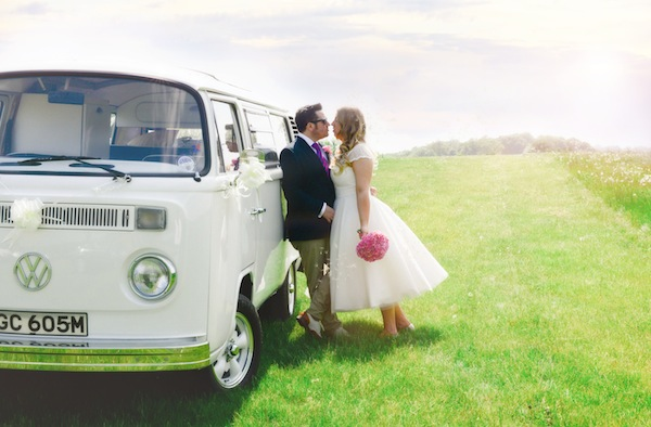 shabby chic wedding VW van