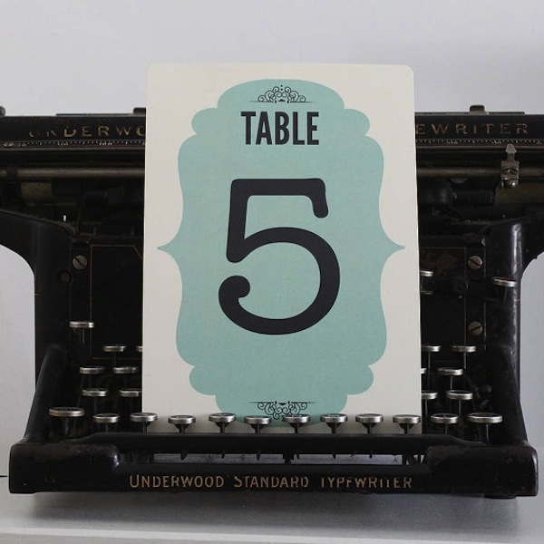 table numbers by LouBrown Designs