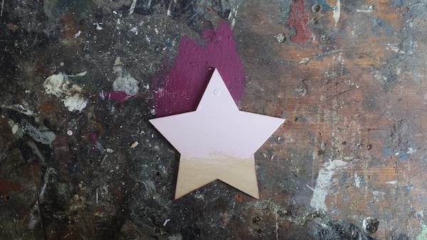 DIY ombre star decorations