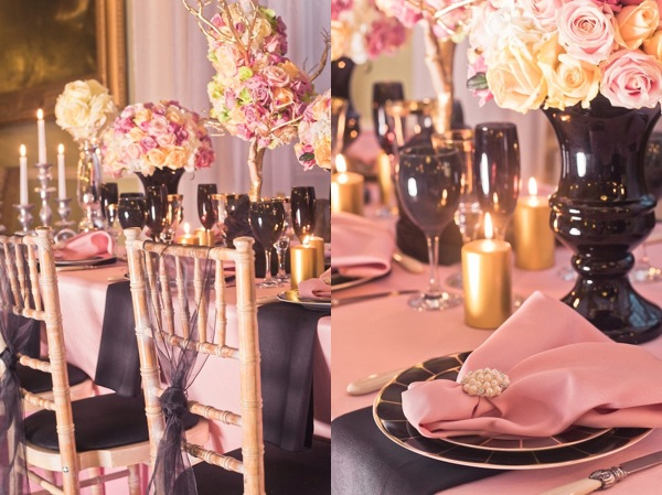 chanel inspired wedding decor