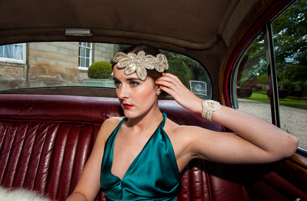 deco bridal headdress