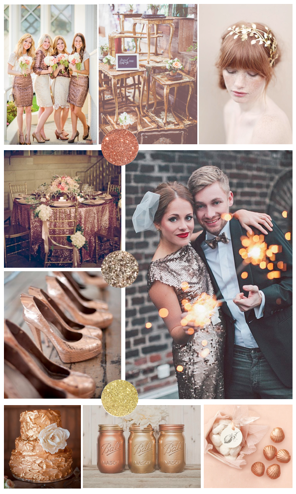 copper bronze and gold wedding inspiration