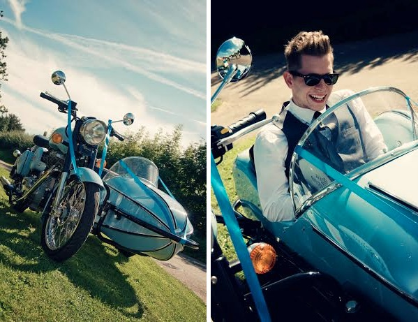 wedding motorbike sidecar