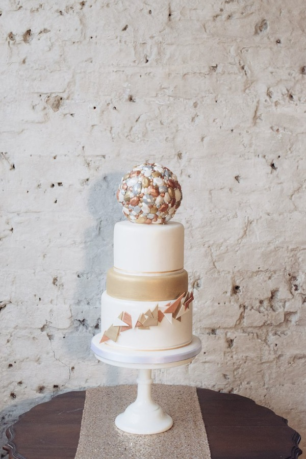 geometric wedding inspiration cake