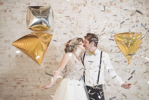 geometric wedding balloons