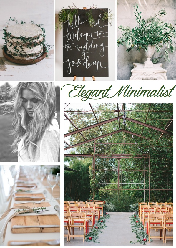 elegant minimalist wedding ideas