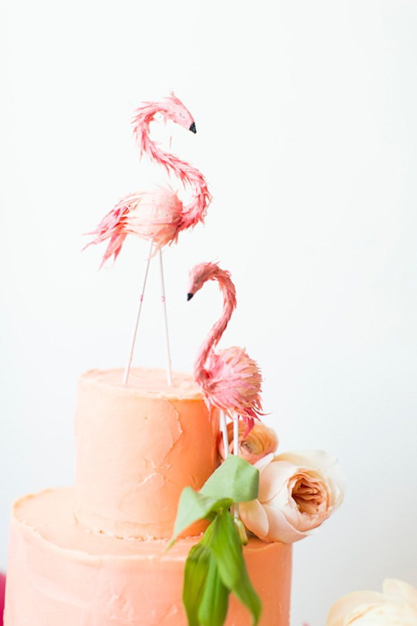 pink flamingo cake toppers