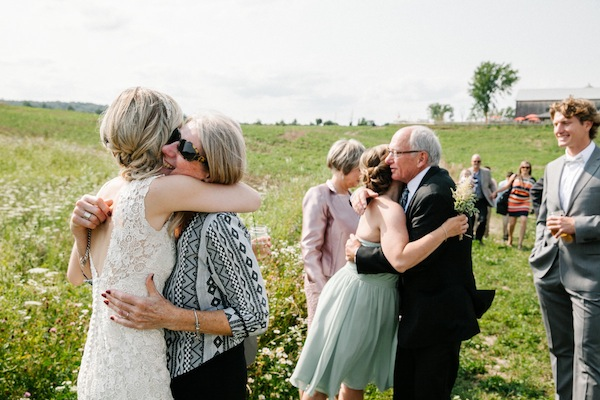 intimate field wedding