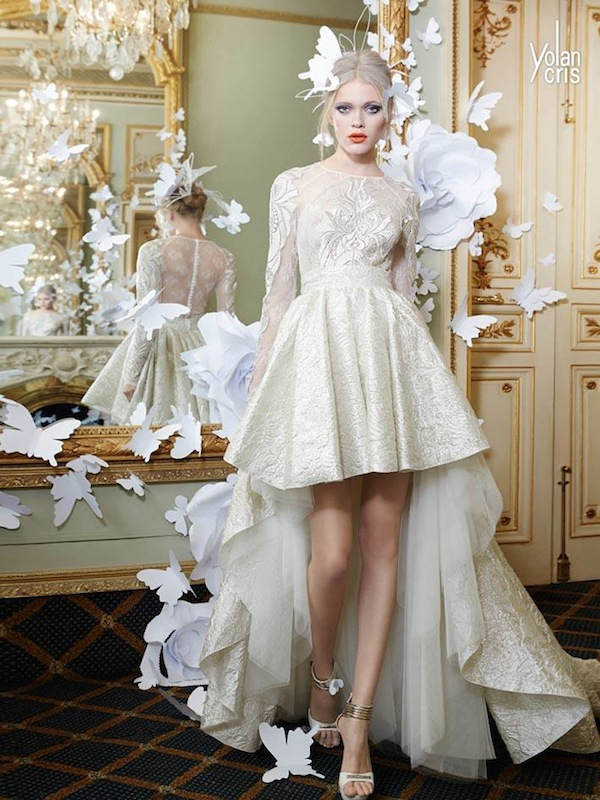 yolan cris skirt top bridal combination