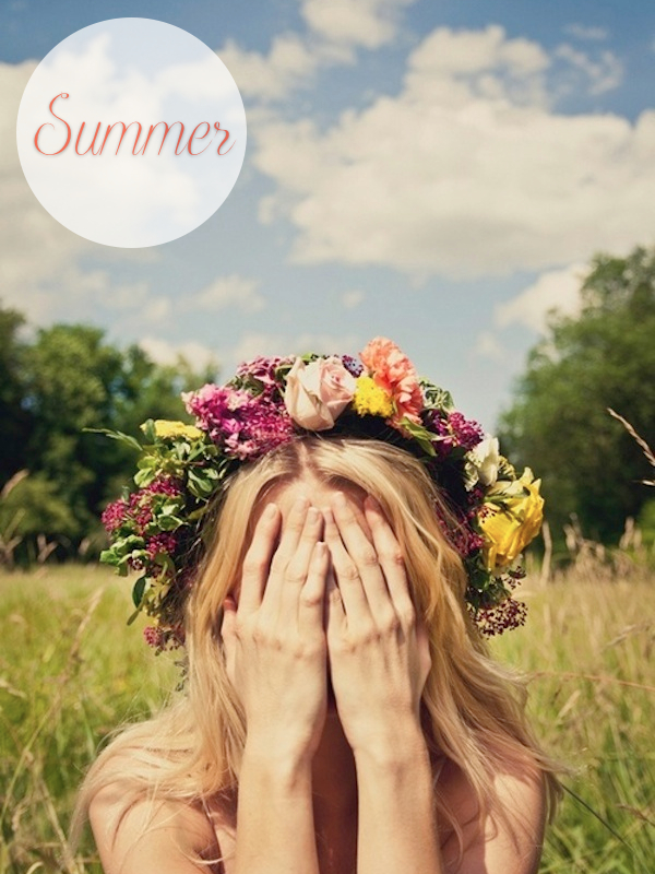 summer flower crown