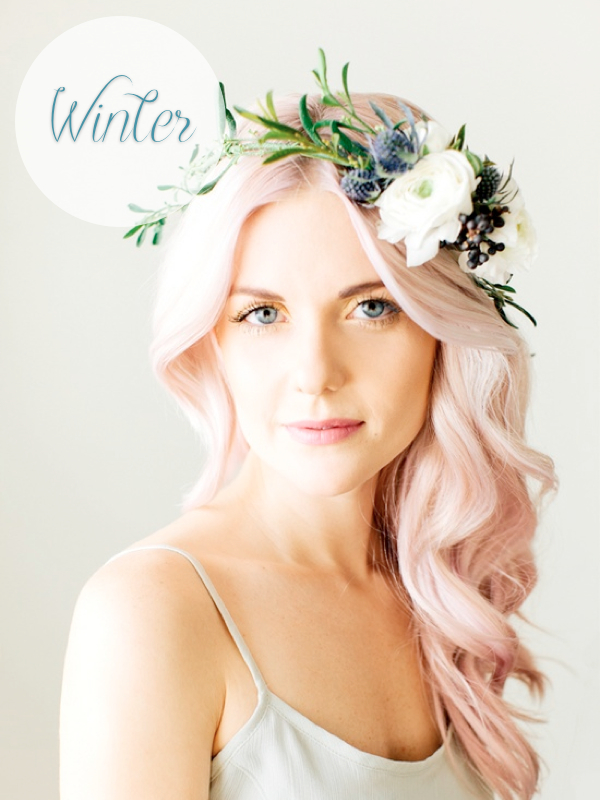 ways to wear a flower crown winter