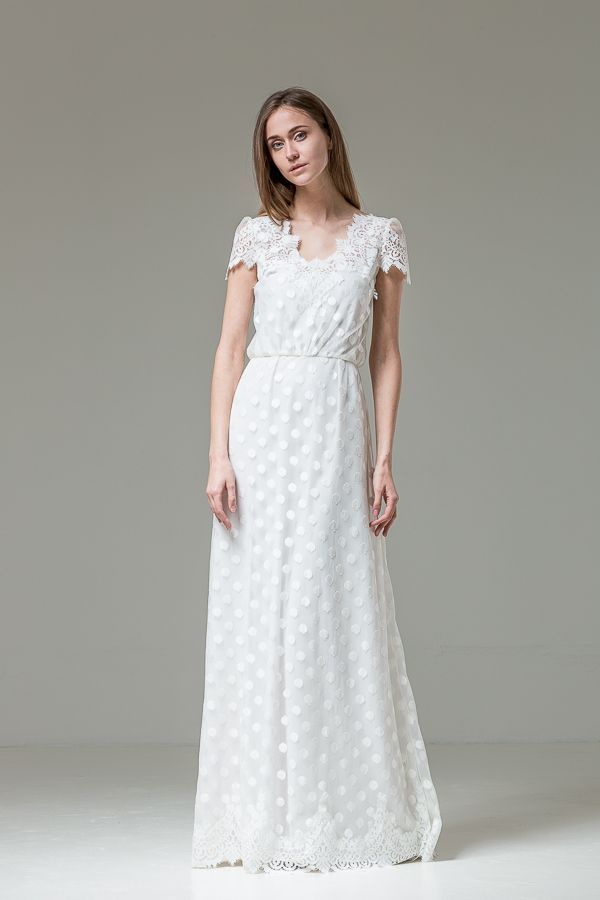 polka dot wedding dress