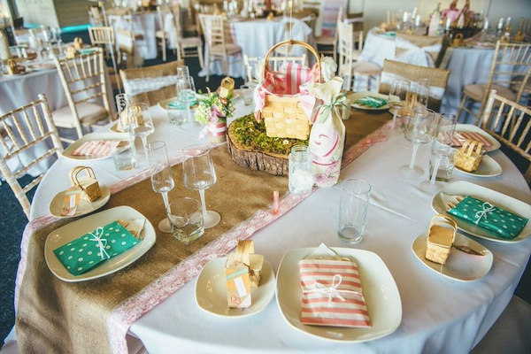pink diy wedding picnic
