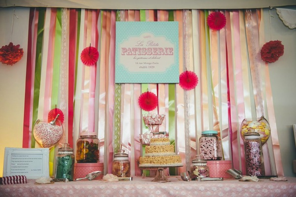 pink diy wedding sweet buffet