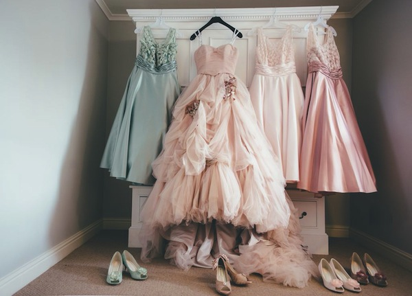 pink wedding dress ian stuart
