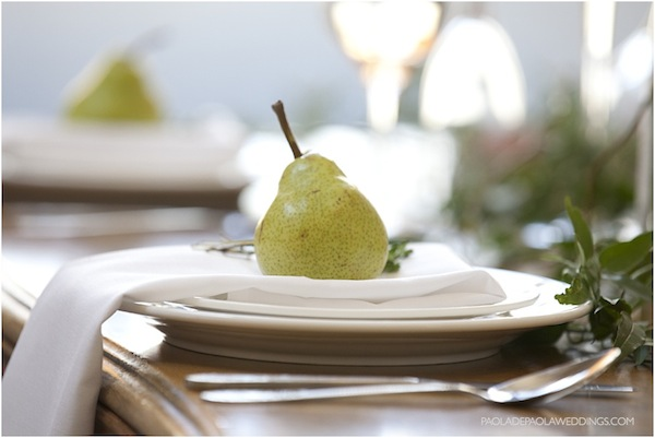 fruit wedding place setting