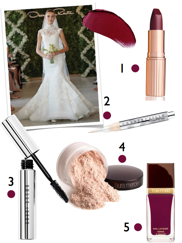 berry bridal makeup