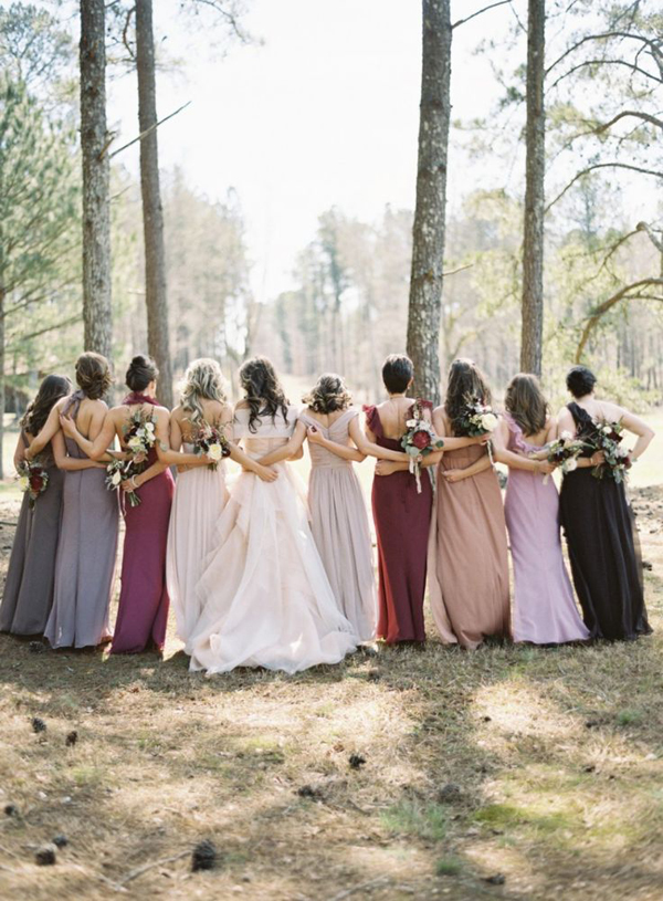 boho wedding style guide bridesmaids