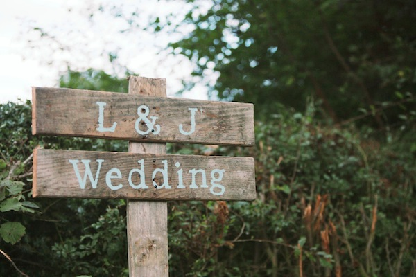 wooden handmade wedding signs